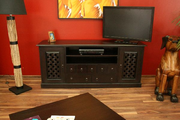sideboard tv hifi 188x81x47 holz massiv java schrank regal rack fernsehschrank ebay. Black Bedroom Furniture Sets. Home Design Ideas