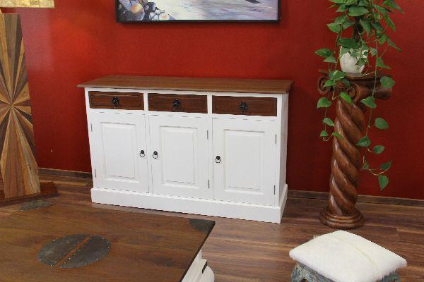 schrank sideboard anrichte buffet holz massiv schubladen t ren landhaus kolonial ebay. Black Bedroom Furniture Sets. Home Design Ideas