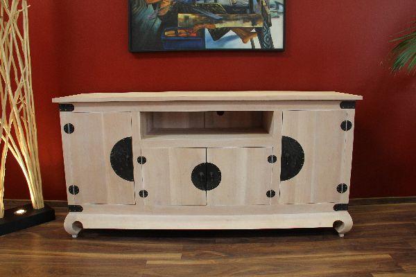 sideboard tv schrank massiv holz kolonial bronze wei beige gek lkt landhausstil. Black Bedroom Furniture Sets. Home Design Ideas