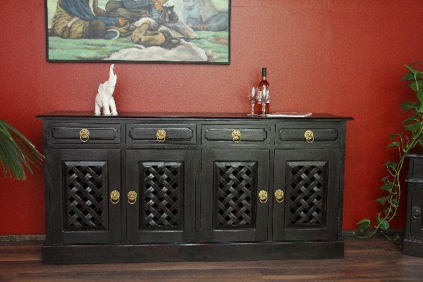 schrank anrichte buffet holz bronze gold kolonial. Black Bedroom Furniture Sets. Home Design Ideas