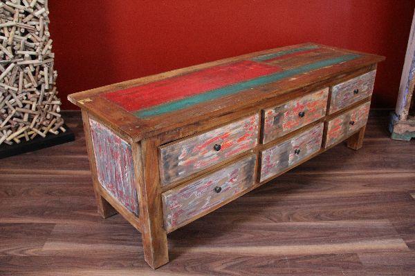 sideboard tv hifi lowboard unterschrank massiv holz. Black Bedroom Furniture Sets. Home Design Ideas