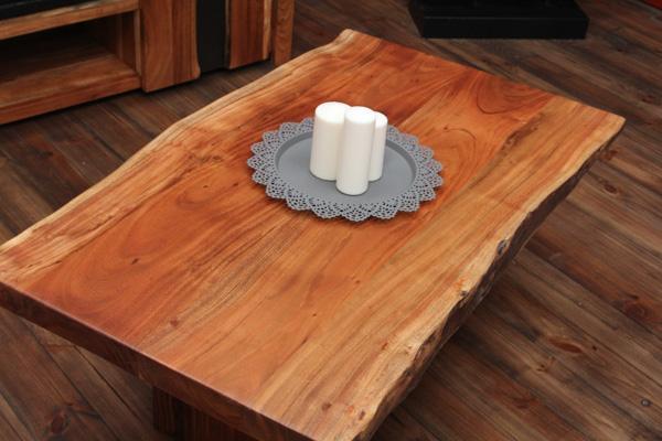 designer couchtisch aus suar massivholz mit natur baumkanten. Black Bedroom Furniture Sets. Home Design Ideas