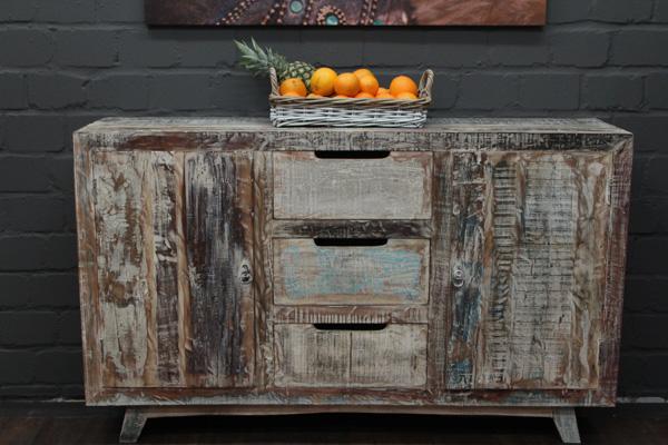 kommode massivholz wei 150x91x41 vintage schrank highboard sideboard gek lkt ebay. Black Bedroom Furniture Sets. Home Design Ideas