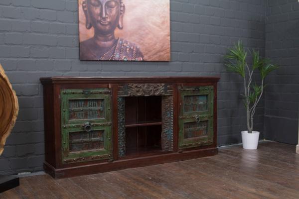 massivholz highboard aus indien im kolonialstil. Black Bedroom Furniture Sets. Home Design Ideas