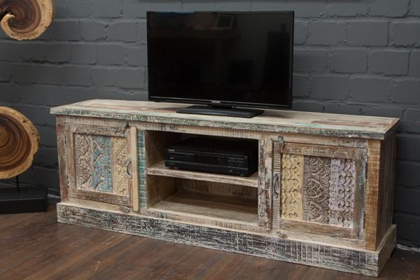 designer tv sideboard aus massivholz im wei en. Black Bedroom Furniture Sets. Home Design Ideas