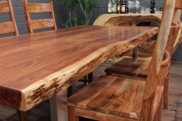 Massivholz Esstisch Mit Edelstahlbeinen : Wir garantieren Ihnen, daß Sie bei uns nur asiatische Möbel und