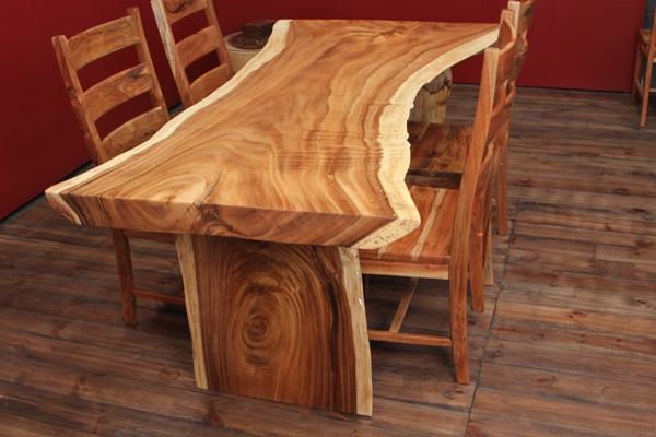 esstisch holz massiv baumscheibe 200x115x80 natur tisch. Black Bedroom Furniture Sets. Home Design Ideas