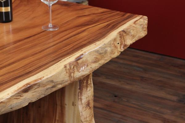designer massivholz esstisch aus einer suar baumscheibe. Black Bedroom Furniture Sets. Home Design Ideas