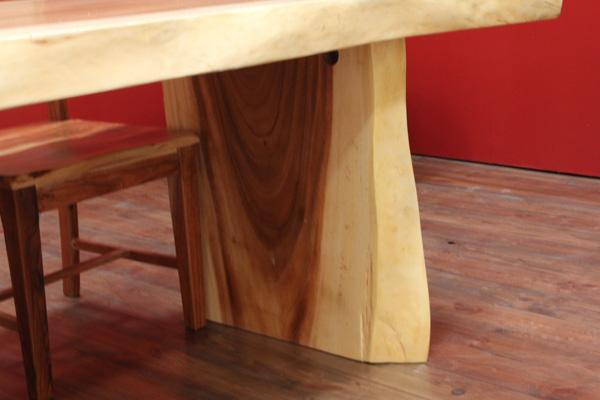 designer baumscheiben esstisch aus suar massivholz. Black Bedroom Furniture Sets. Home Design Ideas