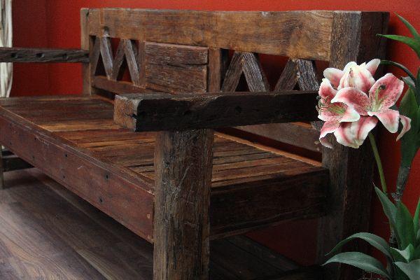sitzbank bank holz teak massiv alt antik bootsholz 201x90x77. Black Bedroom Furniture Sets. Home Design Ideas