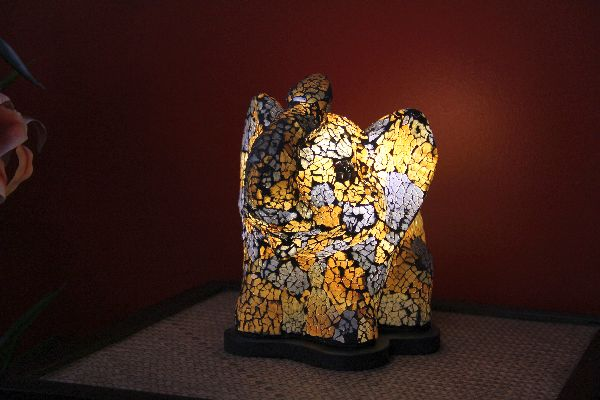 tischlampe tischleuchte lampe leuchte elefant blau. Black Bedroom Furniture Sets. Home Design Ideas