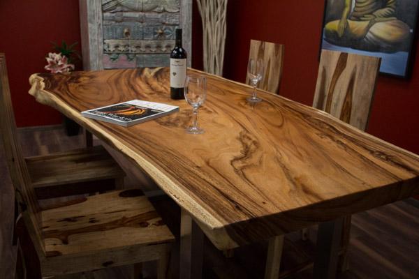 Tisch suar holz massiv schreibtisch tischplatte for Tischplatte holz