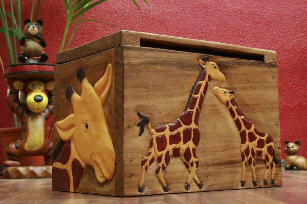 Giraffen truhe kiste spielzeug holz kinderzimmer for Holz kinderzimmer