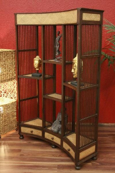 standregal designer regal raumteiler holz rattan. Black Bedroom Furniture Sets. Home Design Ideas