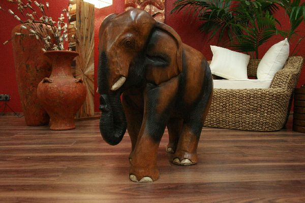 elefant figur statue skulptur holz massiv akazie. Black Bedroom Furniture Sets. Home Design Ideas