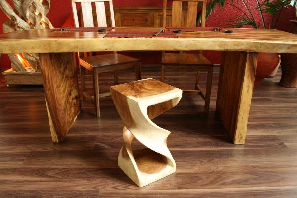 beistelltisch hocker holz suar tisch hifi blumen podest 51cm. Black Bedroom Furniture Sets. Home Design Ideas