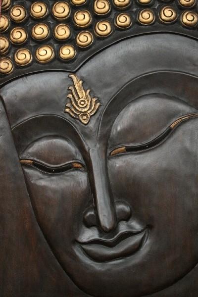 buddha relief wandbild massiv holz bild gold thailand 92x60cm. Black Bedroom Furniture Sets. Home Design Ideas