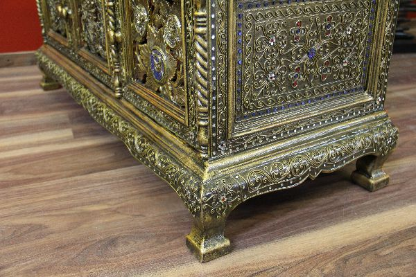 sideboard lowboard holz gold drachen lotus schnitzereien tv t ren blau asiatisch ebay. Black Bedroom Furniture Sets. Home Design Ideas