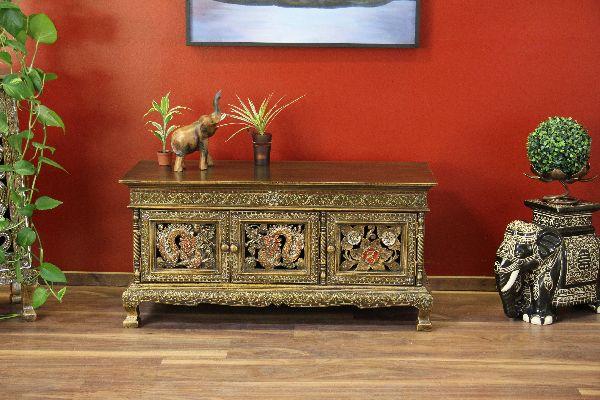 sideboard schrank holz drachen lotus schnitzereien rot gold. Black Bedroom Furniture Sets. Home Design Ideas