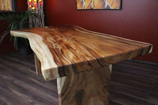 Schreibtisch extravagant  Esstisch, Schreibtisch, Holz, Massiv, Suar, Küchentisch, 200x120x80