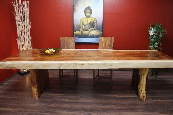 esstisch, tisch, suar, holz, massiv, groß, naturgewachsen, 302x125x80, Esszimmer dekoo