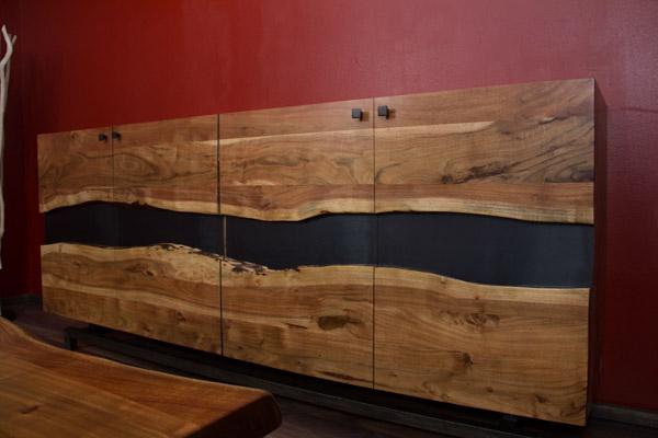 Sideboard holz design  Designer Highboard im modernen Landhausstil aus Suar Holz