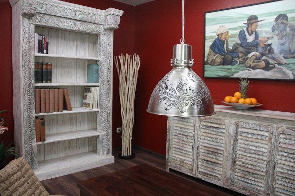 Möbel kolonialstil weiß  Bücherregal, Kolonial, Weiß, Holz, Massiv, gekälkt, Antik, 211x135x52