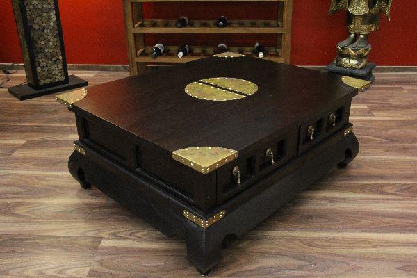 couchtisch schubladen holz bronze gold kolonialstil. Black Bedroom Furniture Sets. Home Design Ideas