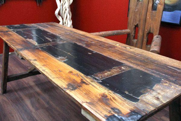 tisch esstisch schreibtisch teak holz massiv bunt bali 190x75x79. Black Bedroom Furniture Sets. Home Design Ideas