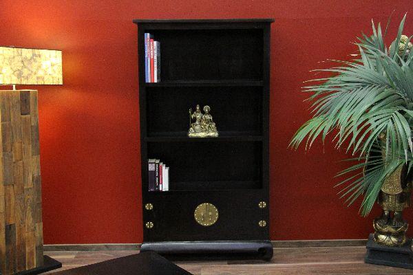 b cherregal standregal regal holz bronze kolonialstil. Black Bedroom Furniture Sets. Home Design Ideas