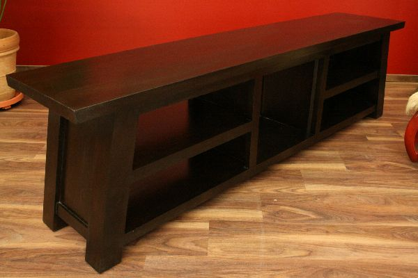 sideboard tv hifi schrank rack holz massiv. Black Bedroom Furniture Sets. Home Design Ideas