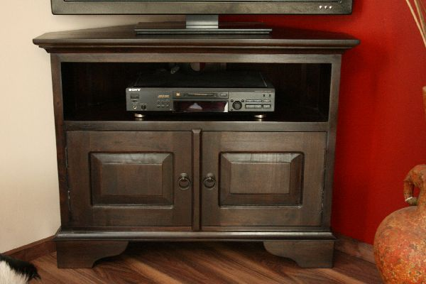 eckschrank tv hifi sideboard holz massiv kolonialstil 90x70x50. Black Bedroom Furniture Sets. Home Design Ideas