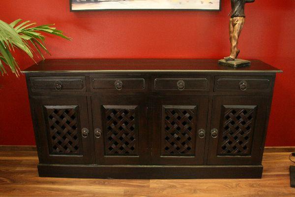 schrank anrichte buffet holz massiv bronze kolonial. Black Bedroom Furniture Sets. Home Design Ideas