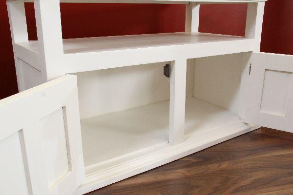 sideboard tv hifi schrank massiv holz wei braun. Black Bedroom Furniture Sets. Home Design Ideas