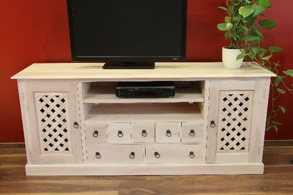 sideboard tv hifi schrank fernsehschrank massiv holz. Black Bedroom Furniture Sets. Home Design Ideas