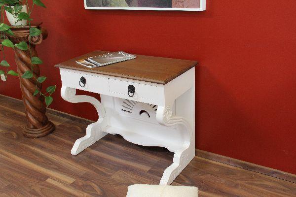 schreibtisch sekret r schminktisch holz wei braun landhausstil. Black Bedroom Furniture Sets. Home Design Ideas