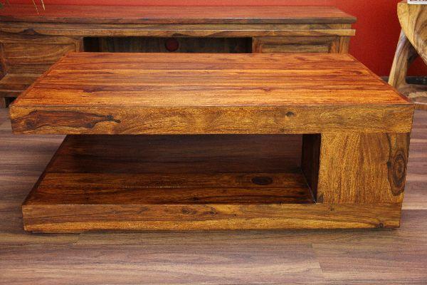 couchtisch holz massiv 110x70x40 bali sheesham tisch. Black Bedroom Furniture Sets. Home Design Ideas