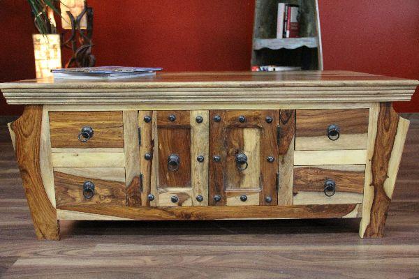 Couchtisch Wohnzimmertisch 110x60x45 Sheesham Massiv Holz
