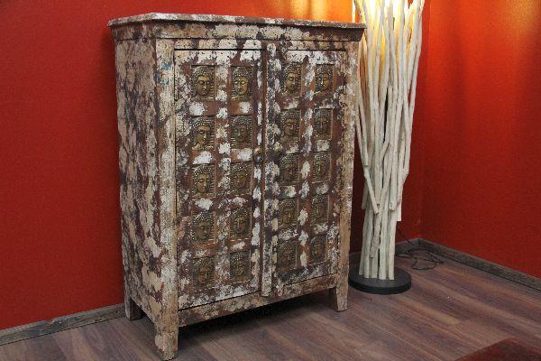 kommode kolonial antik buddha schrank holz alt indien 103x77x40. Black Bedroom Furniture Sets. Home Design Ideas