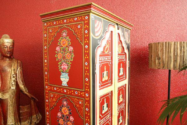 kleiderschrank b cherschrank holz schrank handbemalt. Black Bedroom Furniture Sets. Home Design Ideas
