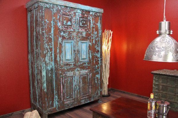 Schrank, Kolonial, Antik, Holz, Massiv, Alt, Indien, Rajasthan ...
