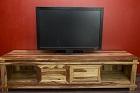 Sheesham Massivholz TV Sideboard - Kontrastreich