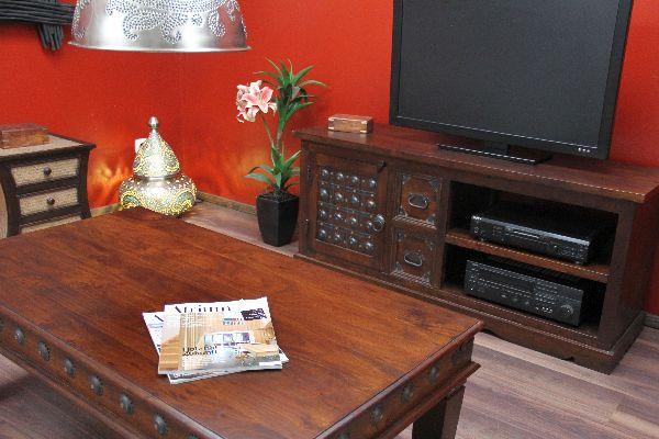 Indisches TV-Sideboard aus Massivholz im Kolonialstil. Nr.14203