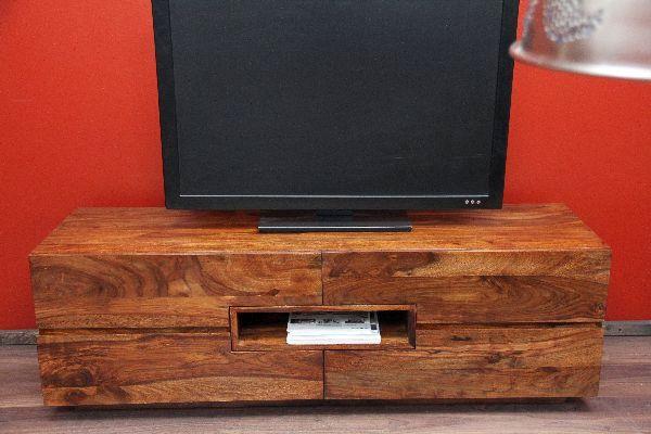 Fernsehschrank modern holz  TV Sideboard, Unterschrank, Fernsehschrank, Sheesham, Holz, 140x45x40