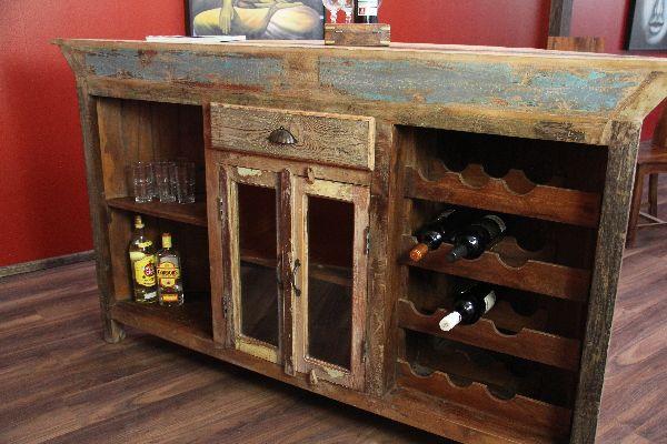 Bar, Theke, Tresen, Kolonial, Antik, Holz, Haus, Garten, Wein, 184cm
