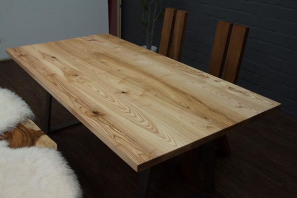 Esstisch Esche Wildesche 200x100x76 Massivholz Natur Planken Tisch