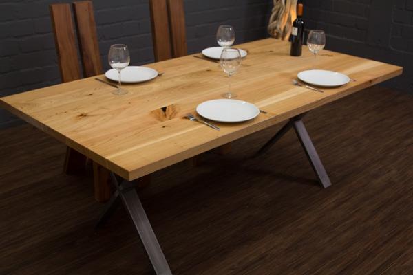 Esstisch kirsche kirschbaum 200x100x76 massivholz planken for Esstisch kirsche