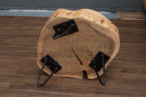 Beistelltisch massivholz baumstamm 50x30x11 baumscheibe - Beistelltisch baumscheibe ...
