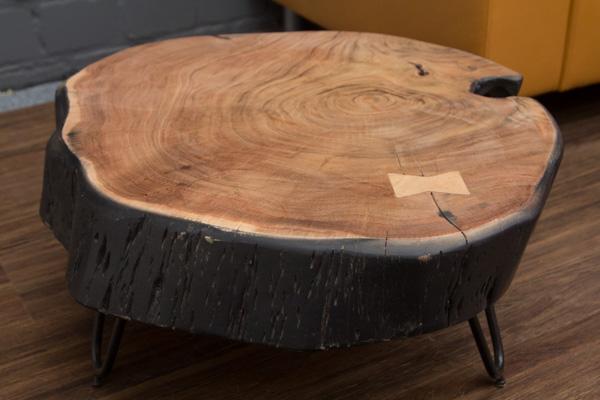 Beistelltisch massivholz baumstamm 67x30x10 baumscheibe couchtisch naturbelassen ebay - Beistelltisch baumscheibe ...