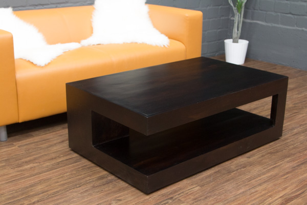 Couchtisch walnuss schwarzbraun 110x70x40 massivholz for Couchtisch schwarzbraun
